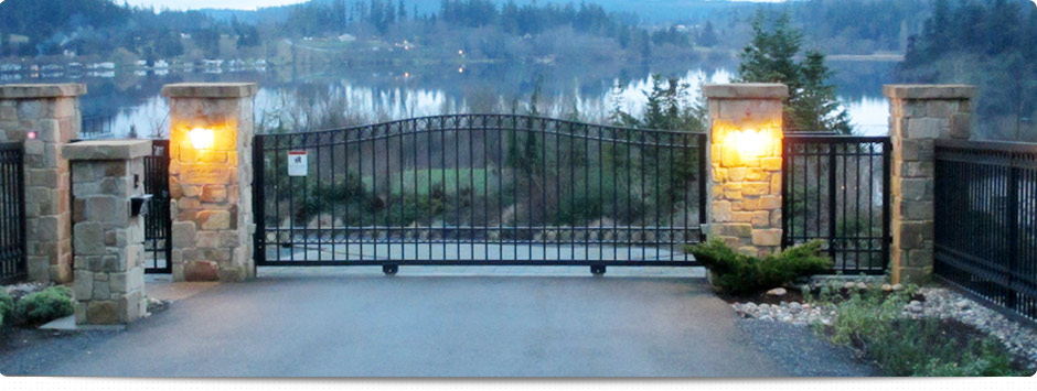 lake property gate